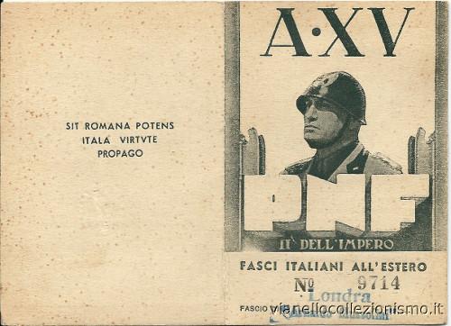 Fasci Italiani Estero 1937