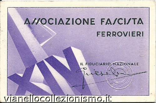 Tessera Associazione Ferrovieri 1936