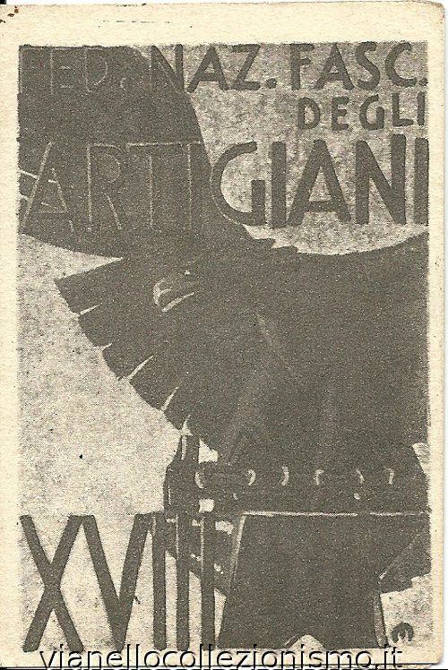 Tessera Federazione Fascista Artigiani 1940