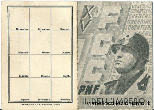 Tessera Fasci Giovanili Combattimento 1937