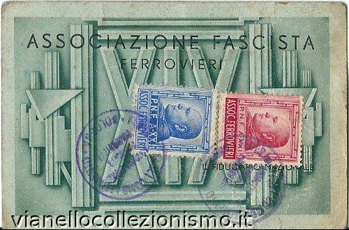 Tessera Associazione Ferrovieri 1941
