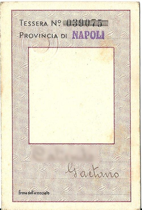 Tessera Associazione Fascista Postelegrafonici 1937