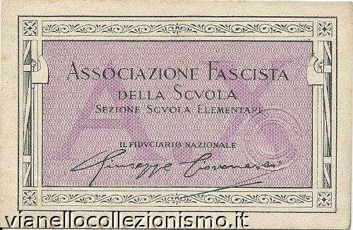 Tessera Associazione Fascista Scuola 1932