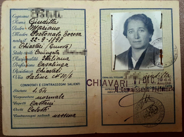 Carta identità Repubblica Sociale Italiana