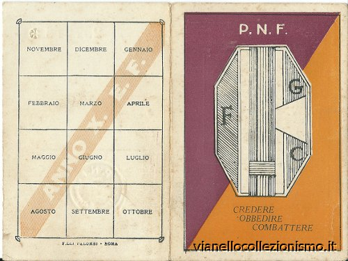 Tessera Fasci Giovanili Combattimento 1932