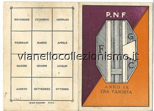 Tessera Fasci Giovanili Combattimento 1931