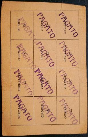 Tessera Gruppo Rionale Sciesa 1933