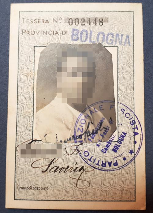 Tessera Associazione Fascista Addetti Aziende dello Stato 1936