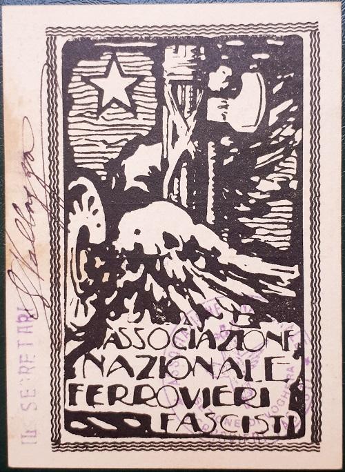 Tessera2.Associazione.Nazionale.Ferrovieri.Fascisti.1925