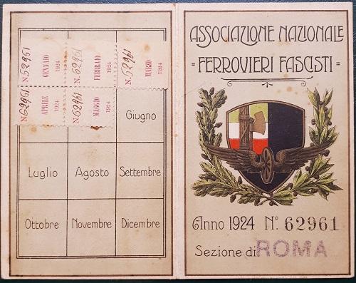 tessera.associazione.nazionale.ferrovieri.fascisti.1924