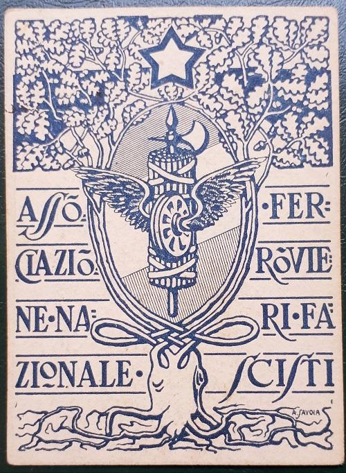 Tessera Associazione Nazionale Ferrovieri fascisti 1923